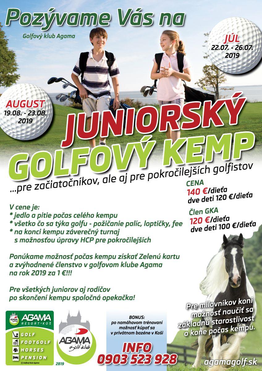 Juniorský golfový kemp pre začiatočníkov aj pre pokročilejších