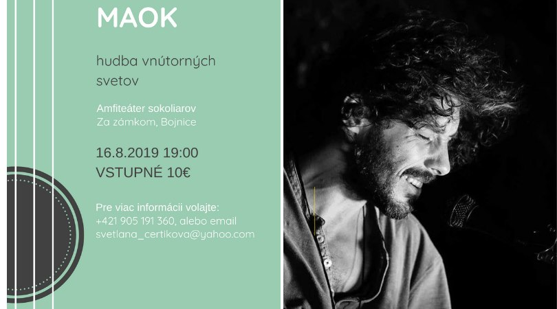 Koncert Maok - preložený do Meridiany