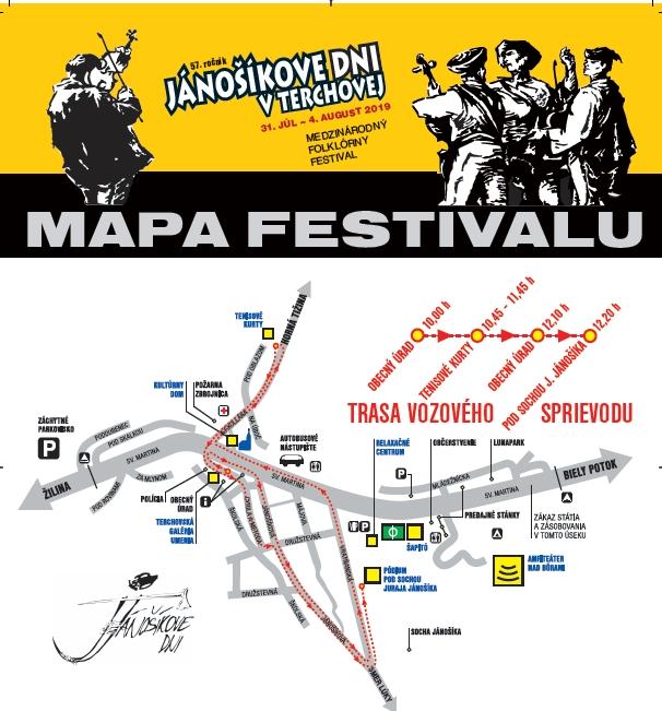 Program Jánošíkových dní v Terchovej 2019