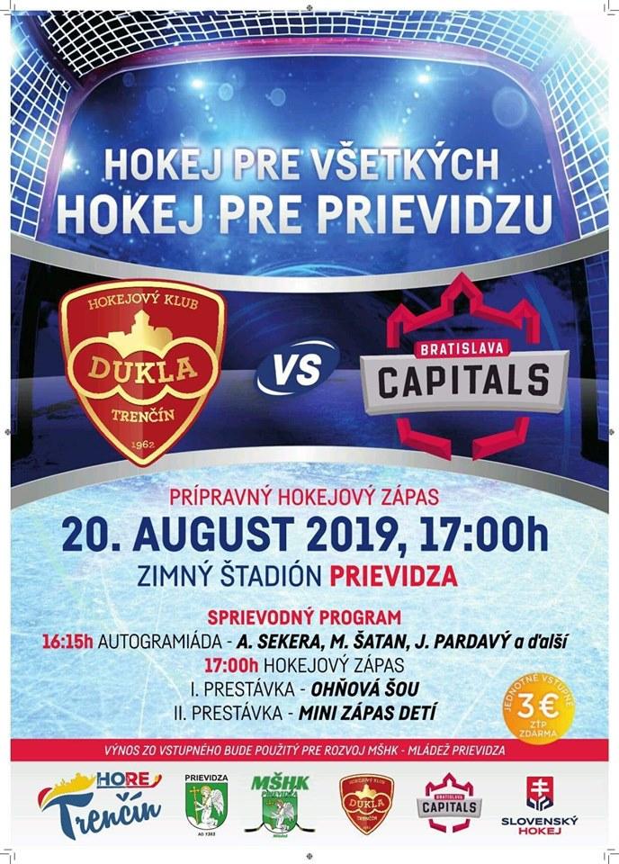 Hokej pre všetkých – hokej pre Prievidzu: Dukla Trenčín – HC Capitals Bratislava