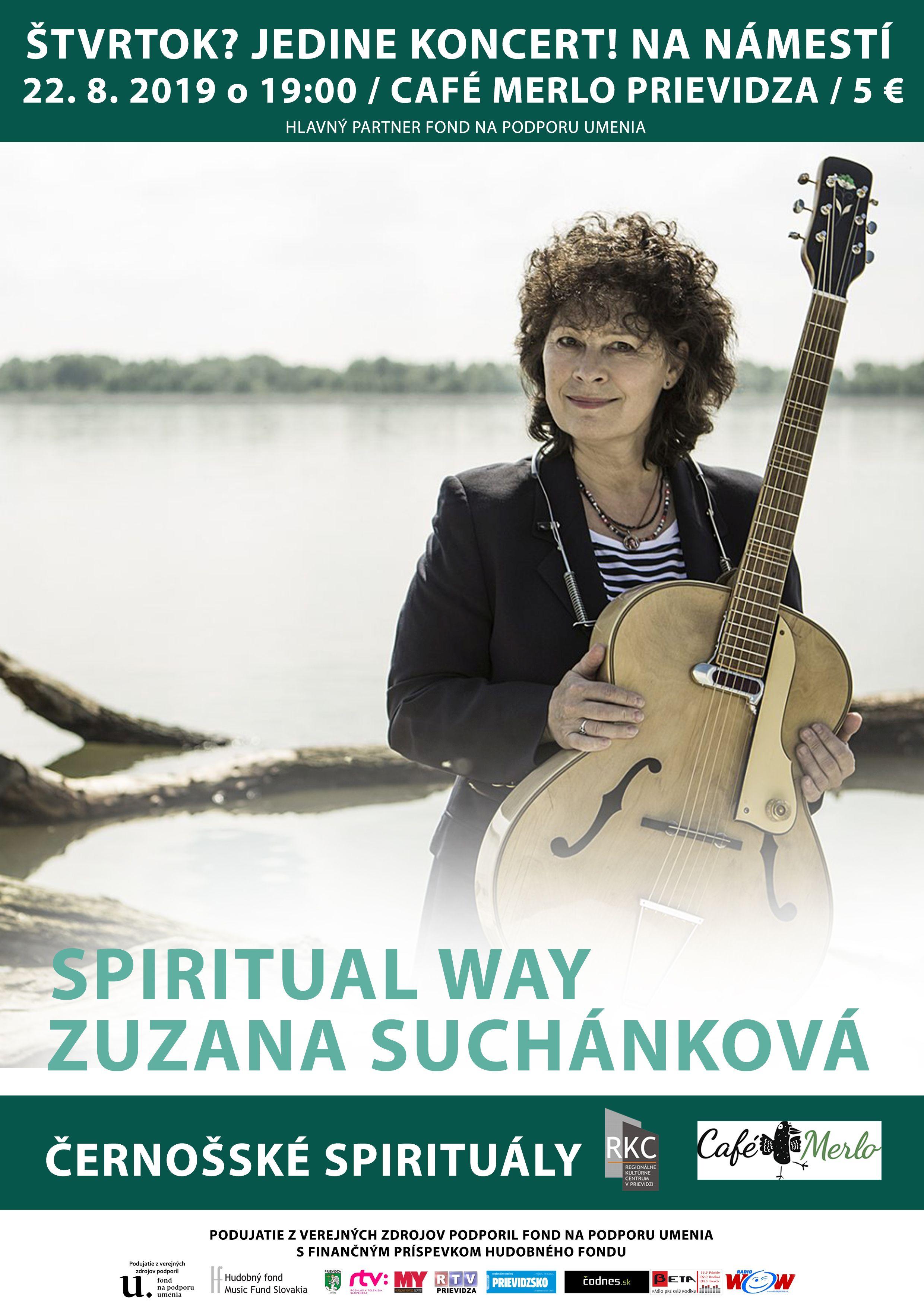 Štvrtok? Jedine koncert! Na námestí: SPIRITUAL WAY Zuzana Suchánková