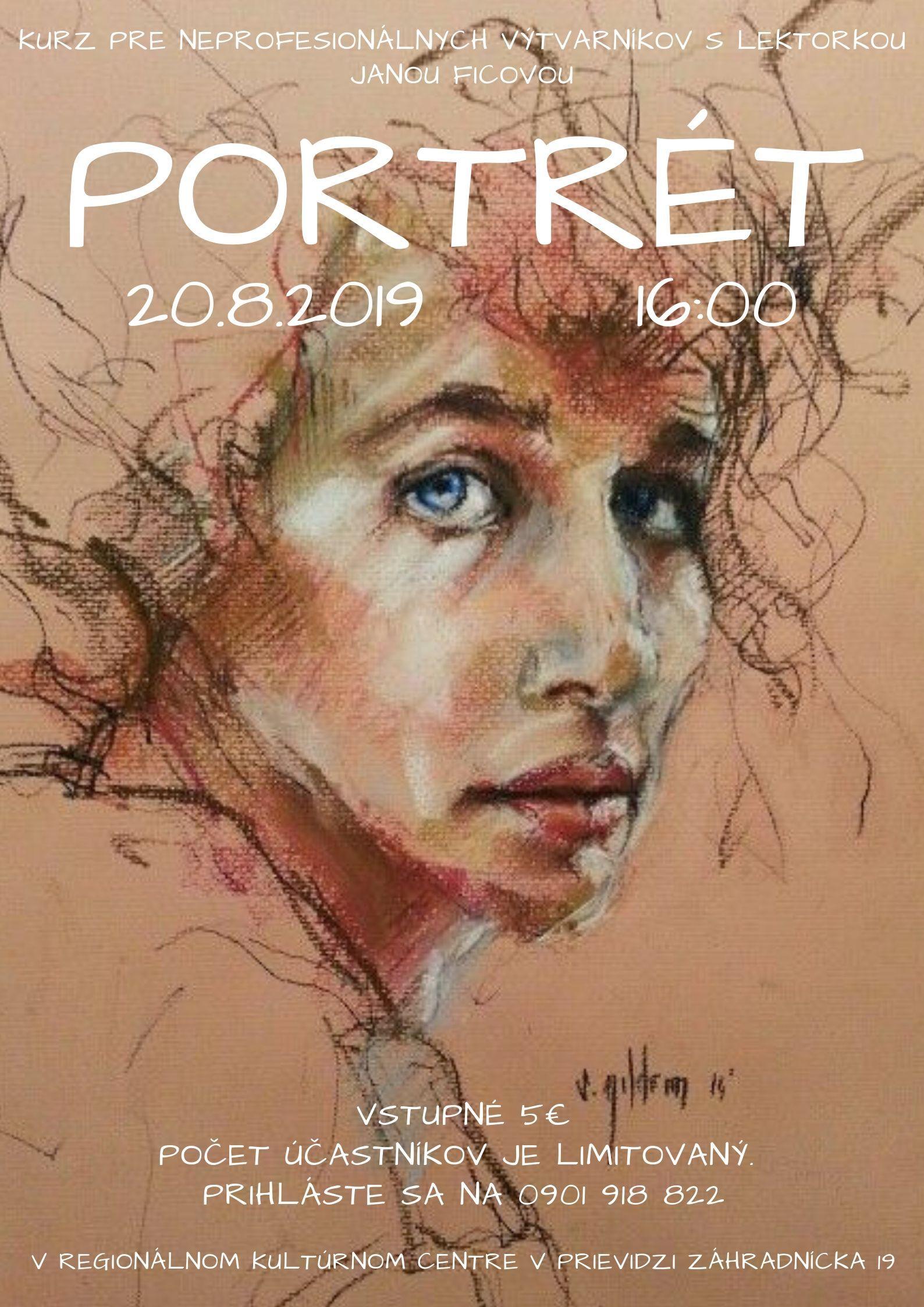 Kurz pre neprofesionálnych výtvarníkov: Portrét