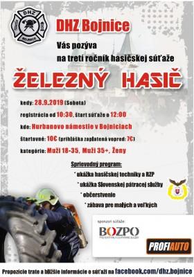 3.ročník Železný hasič Bojnice 2019