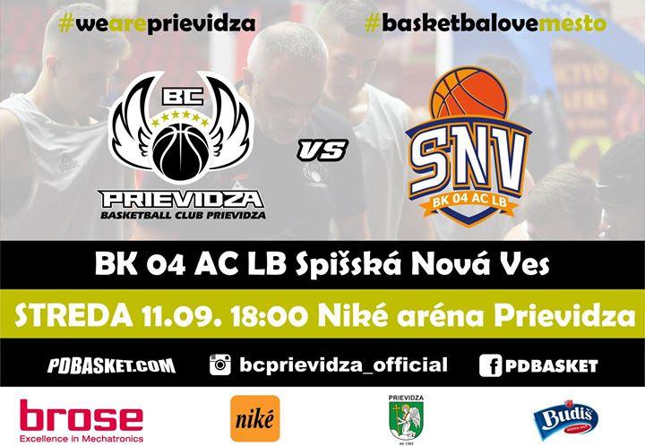 BC Prievidza - BK 04 AC LB Spišská Nová Ves (prípravný zápas)