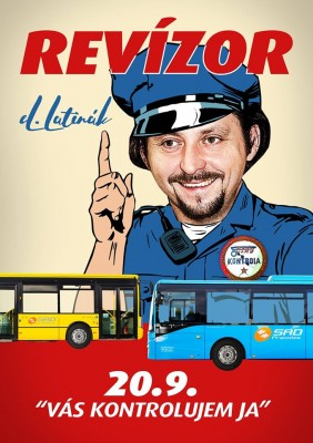 Revízor Lukáš Latinák v autobusoch SAD