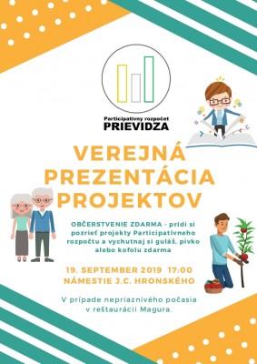 Verejná prezentácia projektov Participatívny rozpočet 2019