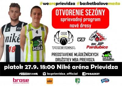 OTVORENIE SEZÓNY: BC Prievidza - BK JIP Pardubice