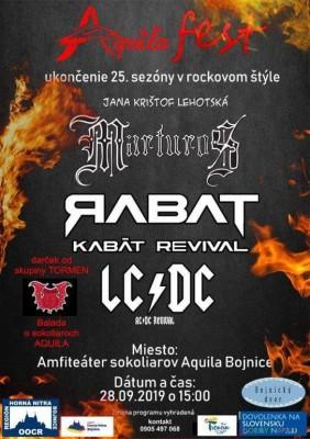 Aquila Fest - ukončenie 25. sezóny v rockovom štýle