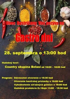 Gastro dni obce Bystričany