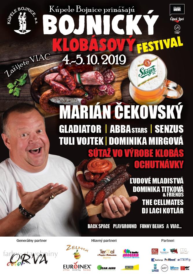 Bojnický klobásový festival 2019 - Kúpele Bojnice - Kompletný program
