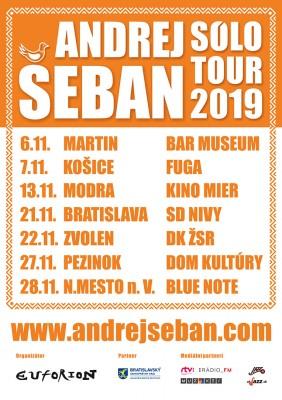 Andrej Šeban SÓLO TOUR 2019