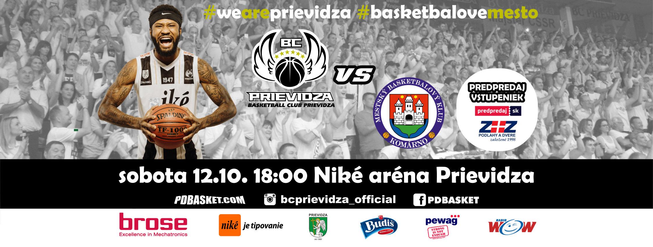 BC Prievidza - MBK Komárno