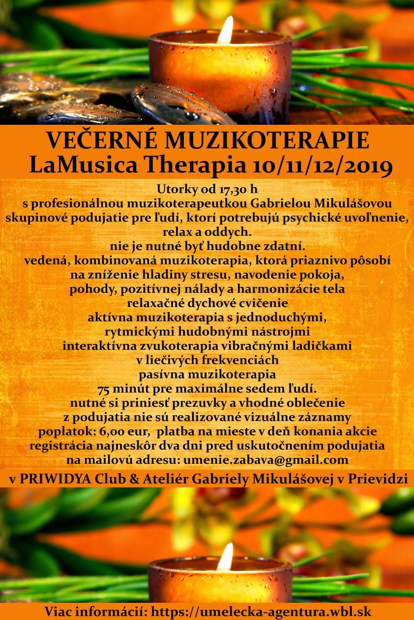VEČERNÉ MUZIKOTERAPIE  LaMusica Therapia 2019