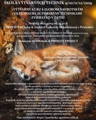Výtvarný kurz s Igorom Navrotským - Olejomaľba - Autorské techniky - Zvieratko v zátiší