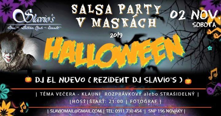 Halloween Salsa Party v Slavio᾽s Nováky.
