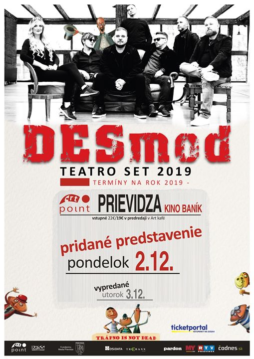 Desmod Teatro set - pridaný koncert