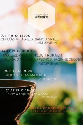 Prednášky - november 2019 - Cafe Nateeva