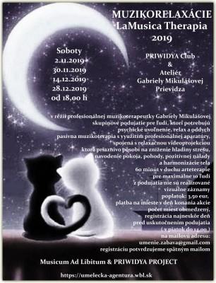 MUZIKORELAXÁCIA LaMusica Therapia 2019