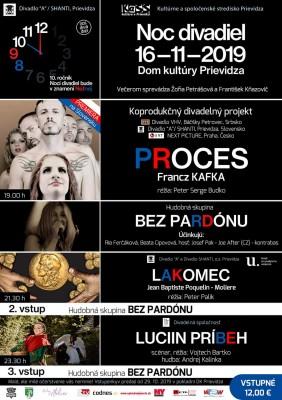 Noc divadiel 2019 - Prievidza - Vypredané