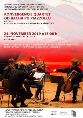Klasika na zámkoch, hradoch a kaštieľoch - Konvergencie Quartet - Od Bacha po Piazzollu