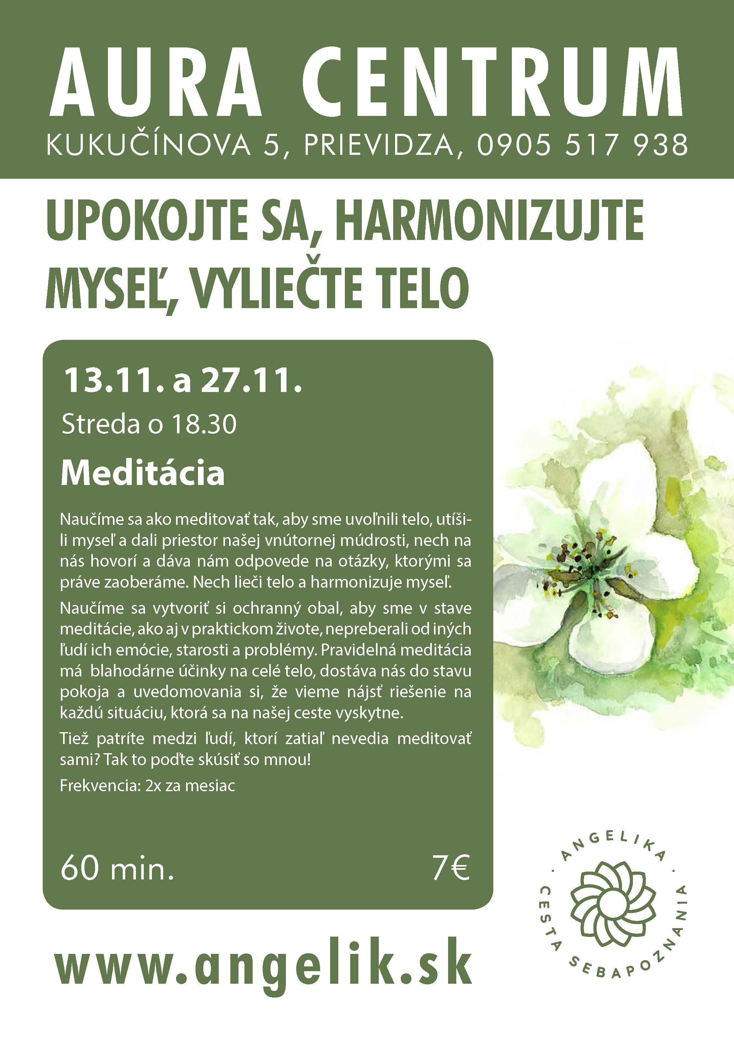 Meditácia 13.11. a 27.11.