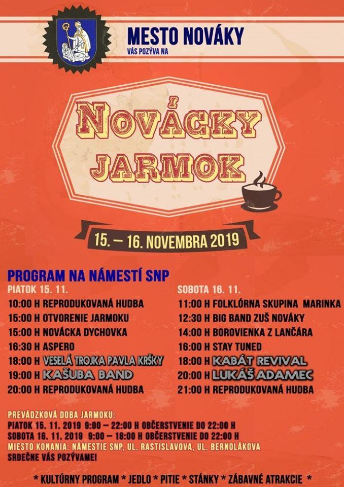 Novácky jarmok 2019 - program