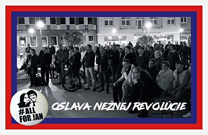 Oslava Nežnej revolúcie - Prievidza Za slušné Slovensko