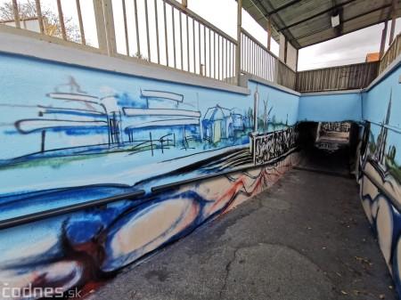 Foto a video: Skrášľovanie podchodu Žabník-Necpaly je hotové 2