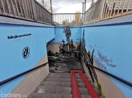 Foto a video: Skrášľovanie podchodu Žabník-Necpaly je hotové 7
