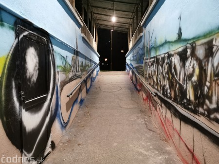 Foto a video: Skrášľovanie podchodu Žabník-Necpaly je hotové 11