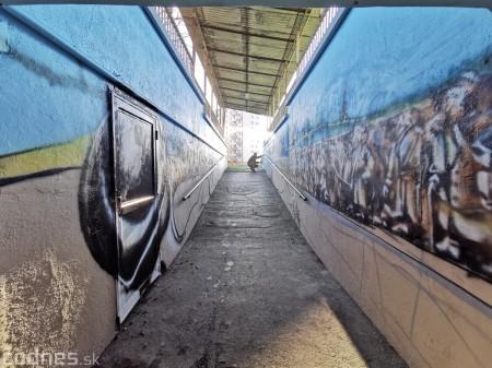 Foto a video: Skrášľovanie podchodu Žabník-Necpaly je hotové 20