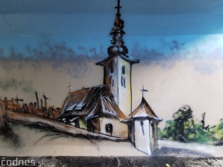 Foto a video: Skrášľovanie podchodu Žabník-Necpaly je hotové 24
