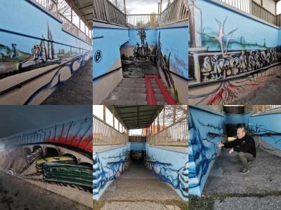 Foto a video: Skrášľovanie podchodu Žabník-Necpaly je hotové