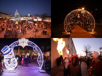 Foto a video: Mikulášsky sprievod anjelov a čertov 2019 - rozsvietenie vianočného stromčeka
