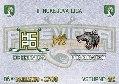 HC PRIEVIDZA vs PHC BUDAPEST (14.12.2019)