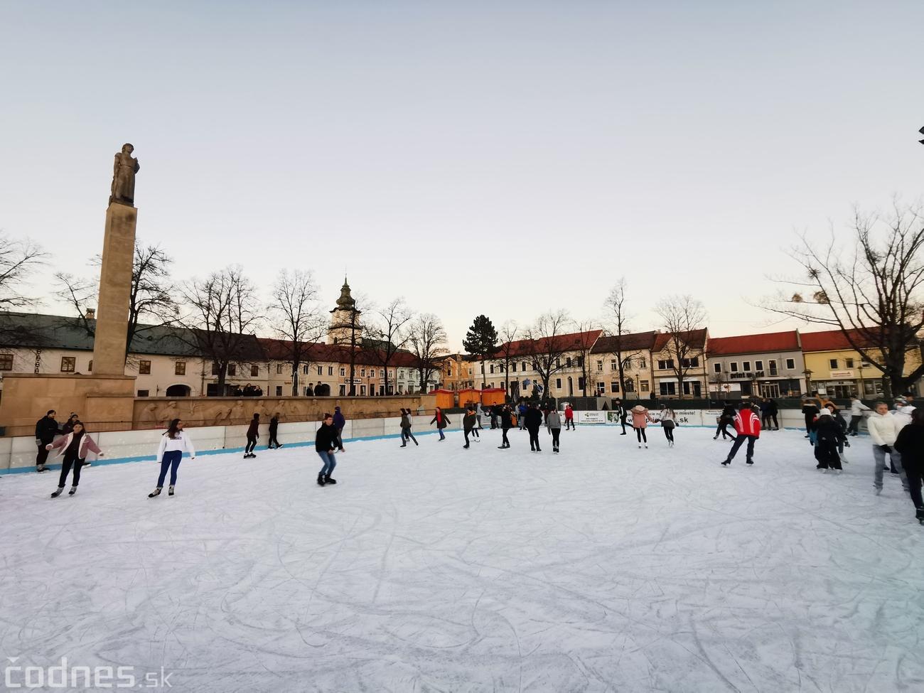 Ľadová plocha na námestí v Prievidzi - prevádzkové hodiny