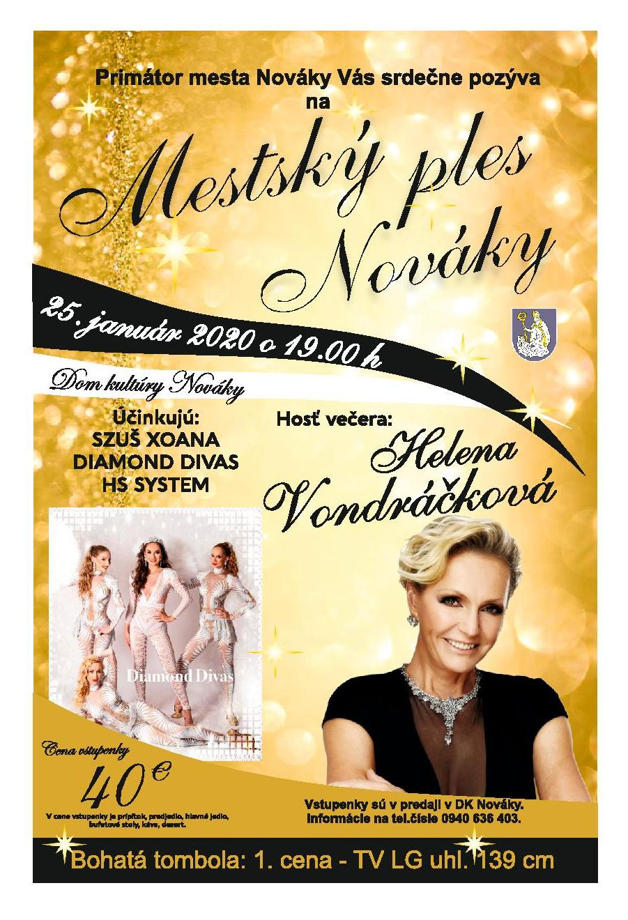 Mestský ples Nováky 2020
