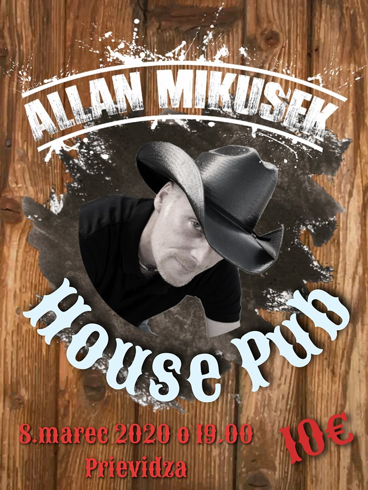 Koncert Allana Mikušeka v House Pube