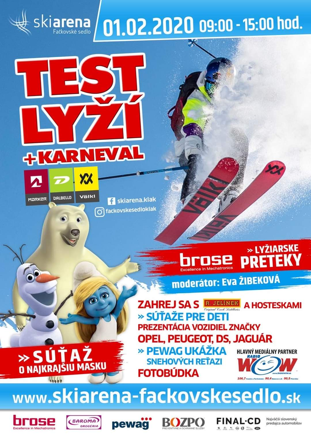 Test lyží VÖLKL + karneval 2020