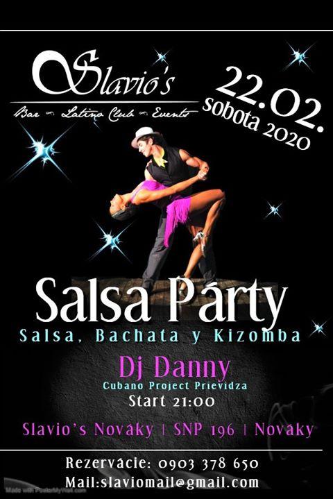 Prvá Salsa Party v Slavio's Nováky 2020