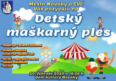 Detský maškarný ples v Novákoch 2020