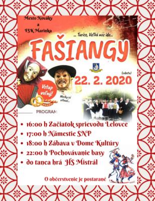 Fašiangový sprievod v Novákoch 2020