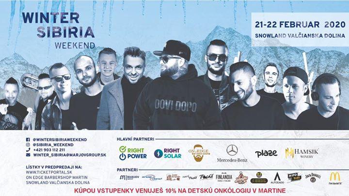Winter Sibiria Weekend - KALI, DJ EKG, DROZĎO & DEMEX a ďaľší