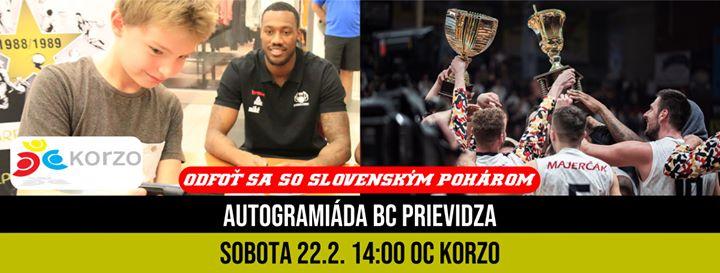 Autogramiáda BC Prievidza v OC Korzo so Slovenským pohárom