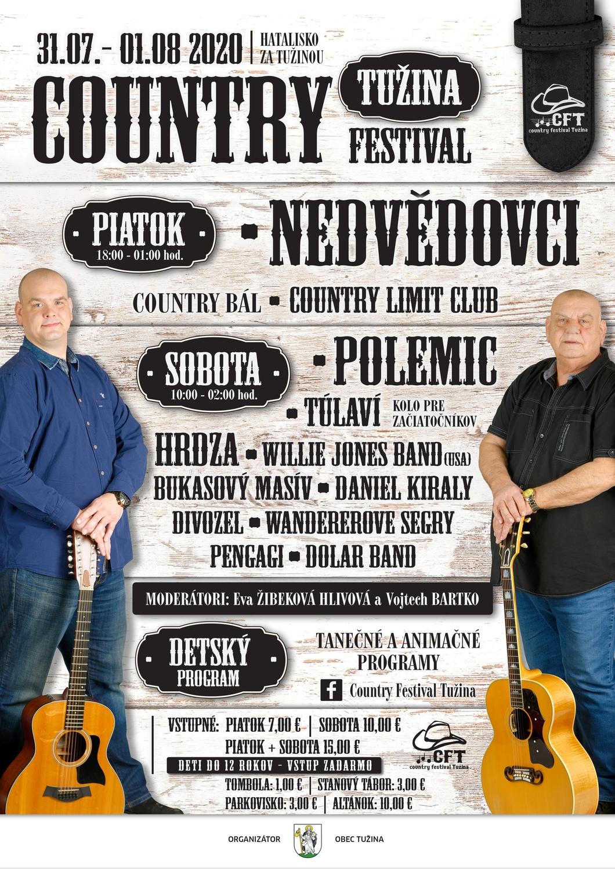 Preložené na rok 2021 - COUNTRY FESTIVAL TUŽINA 2020 - 10. ročník