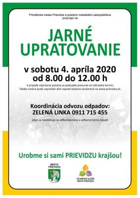Zrušené - Jarné upratovanie mesta Prievidza v roku 2020