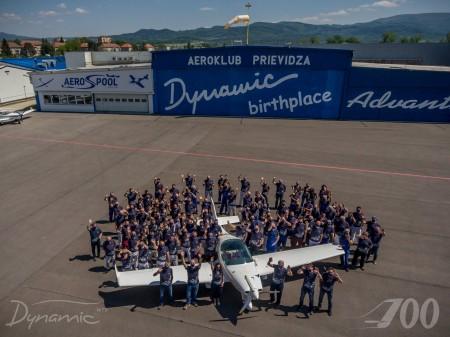 Prievidzský Aerospool vyrobil 700. kus malého športového lietadla Dynamic WT9 0