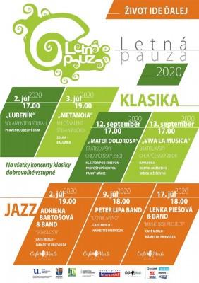 Koncerty Letná pauza 2020 - klasika&jazz