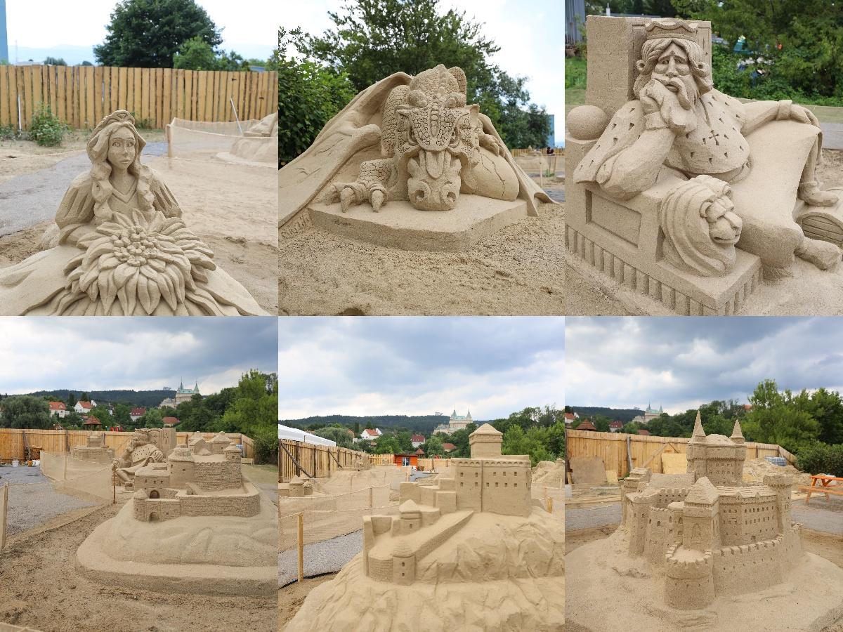 Foto a video: Obrovské pieskové sochy v Bojniciach budete môcť vidieť už od zajtra 27.6.