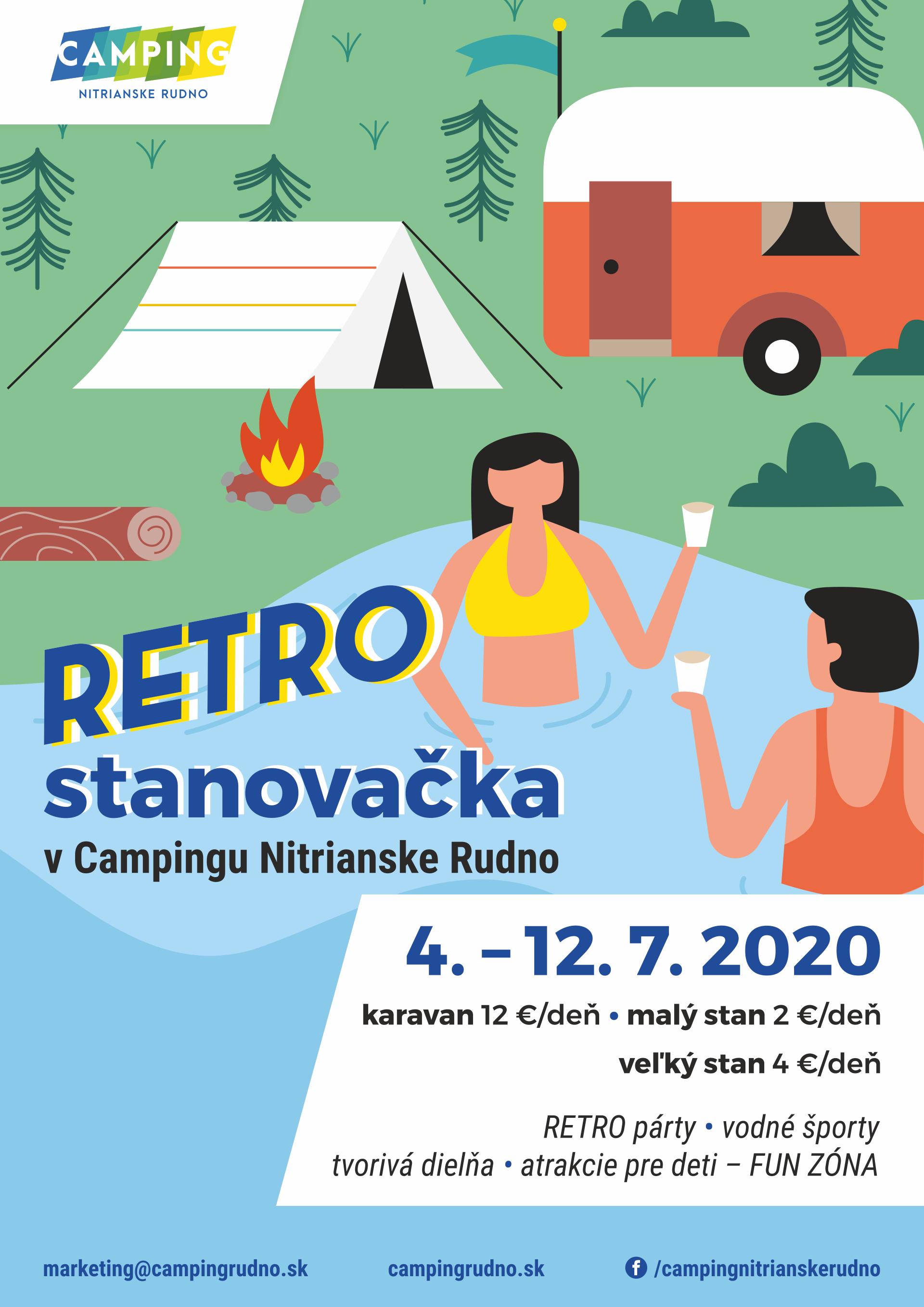 RETRO stanovačka v Camping Nitrianske Rudno